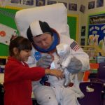 We had a visitor whilst we were doing our Moon Zoom topic