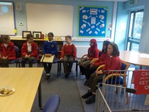 Pupil voice representatives meet with our governors