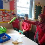 Science investigating sounds in our school environment